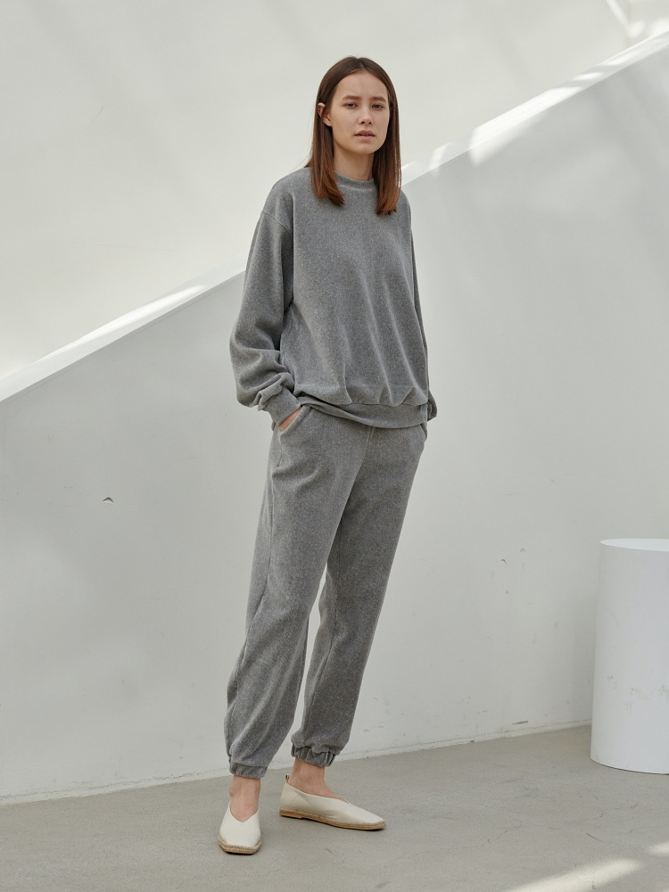 [20AW]warm texture Jogger Pants _ grey
