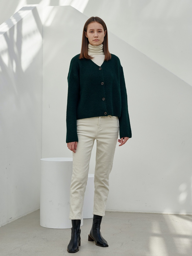 [20AW]wool alpaca cardigan_green