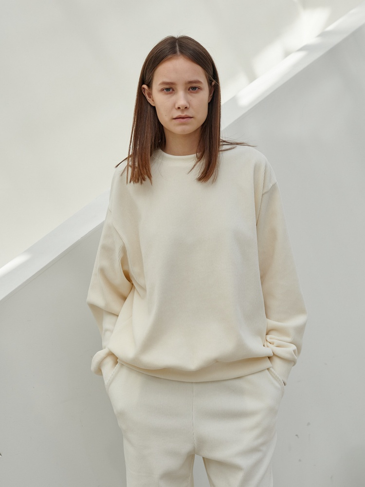 [20AW]warm texture  sweatshirt_cream