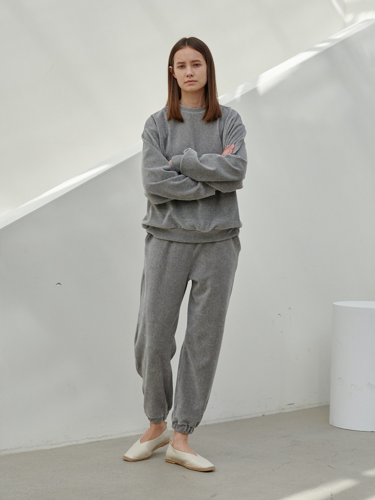 [20AW]warm texture  sweatshirt_grey