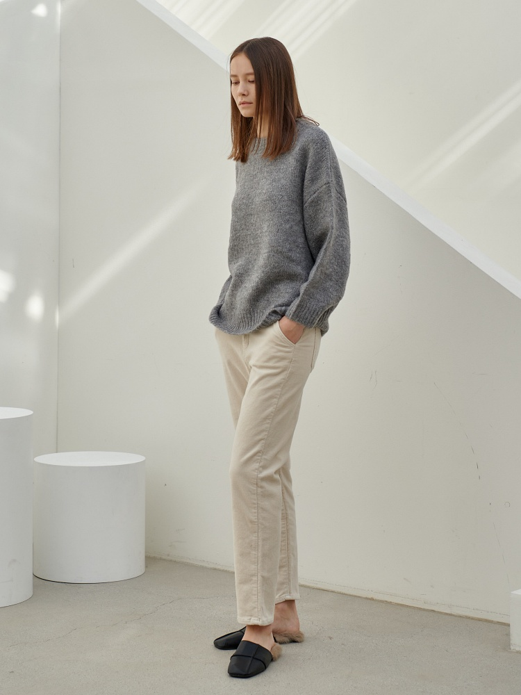 [20AW]wool daily pullover_grey