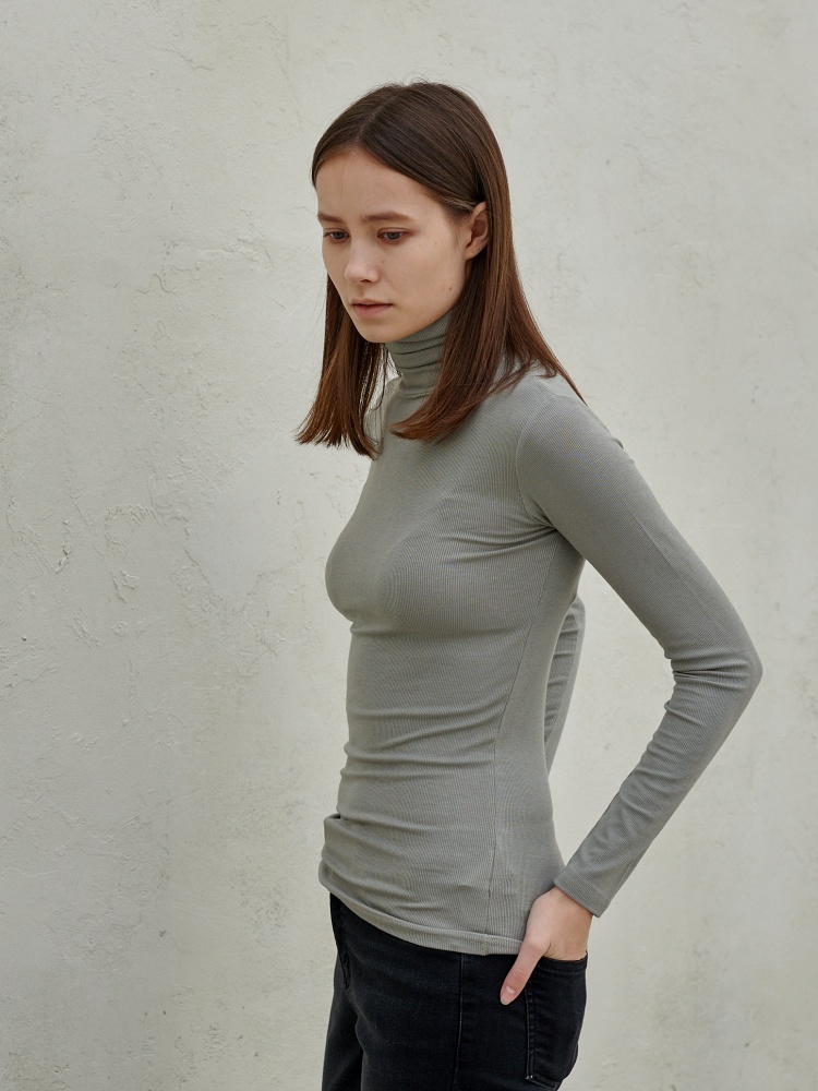 [20AW]unique turtleneck long sleeves_mint