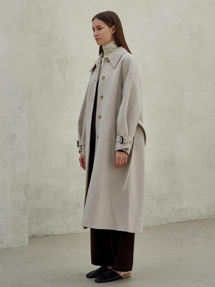 [20AW]merino wool100 handmade single coat_cream-beige