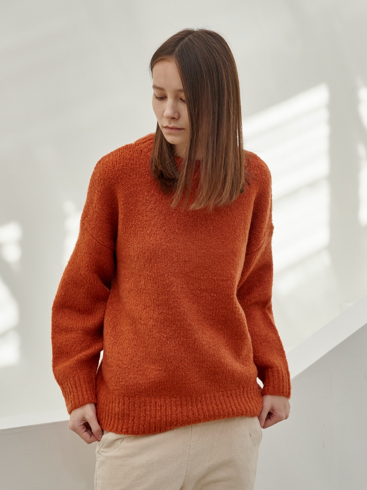 [20AW]wool daily pullover_orange