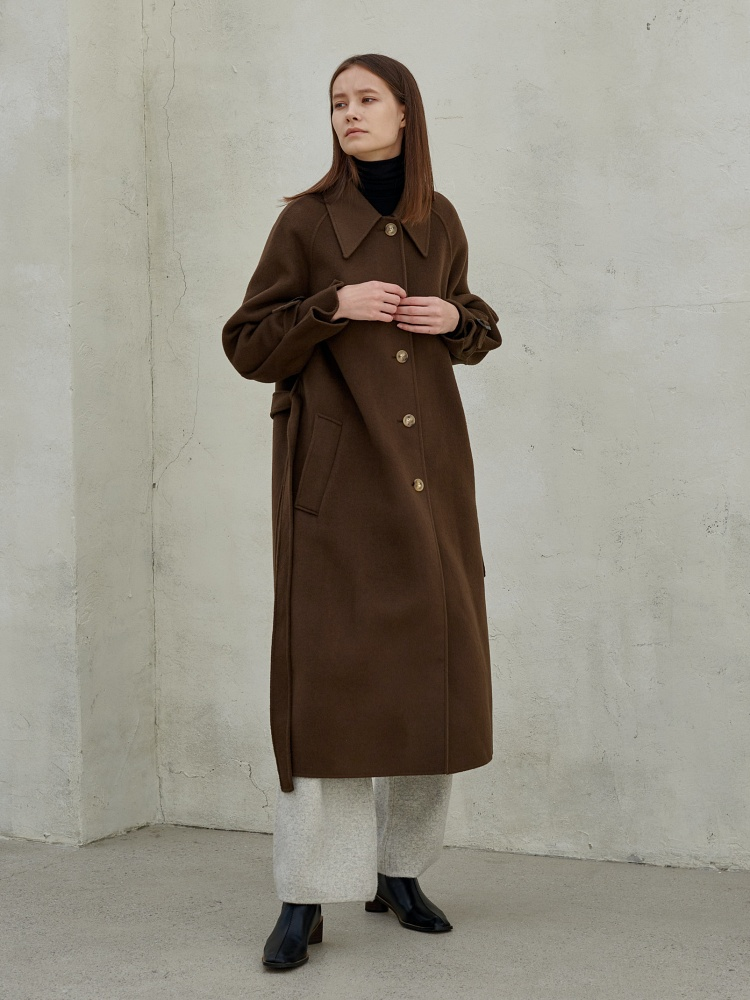 [20AW]merino wool100 handmade single coat_brown