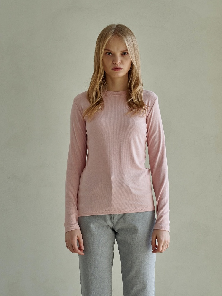 [21ss] UNIQUE ROUND LONG SLEEVES_PINK